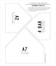 Envelope liners, Envelopes and Diy envelope