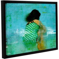 ArtWall Greg Simanson Floating Away Gallery-Wrapped Floater-Framed Canvas, Size: 36 x 48, Green
