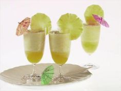 Giada's Mahana Cocktail : Giada's Mahana Cocktail is a frothy, refreshing pineapple-spirits blend.