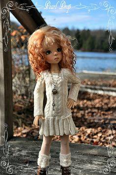 SK Layla white knitdress1  - Doll by Kaye Wigs