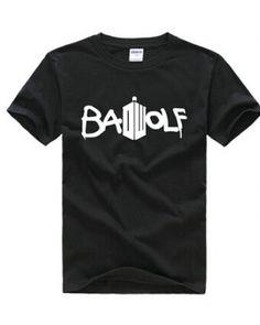 Doctor Who Bad wolf t shirt for men cheap Tardis tshirt -