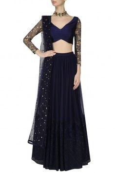 Amaira Darkslate Blue Embroidered Lehenga Set #happyshopping #shopnow #ppus