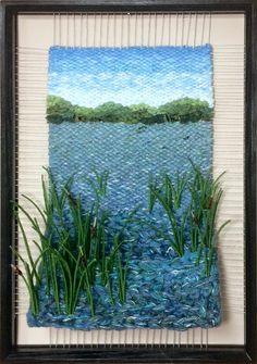 Dimensional Weaving - Martina Celerin 3D fiber art: Looking at Water