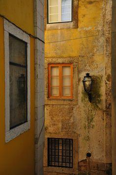 Street corner in old Lisbon