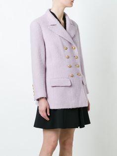 Chanel Vintage укороченное пальто на пуговицах