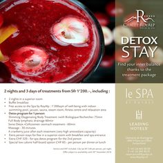 Cocoon yourself with relaxing massages and the tranquillity of a natural setting to enhance your well-being. Immerse yourself in our 3 days Detox Programme! Detox Spa, Superior Room, Leading Hotels, Detox Program, Unique Settings, Breakfast Buffet, Hotel Spa, Finding Yourself, Wellness