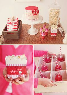 Classic Pink & Movie Party. Great for Girl's Night.