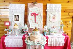Shabby Chic Princess Party #shabbychic #princessparty