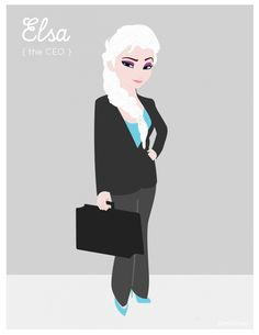 If Disney ladies had jobs today, this is what they'd be doing... how fun & imaginative -- idk if I agree w/Anna though