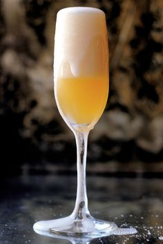 Moonwalk --// 1 oz. fresh grapefruit juice /   1 oz. Grand Marnier orange liqueur  / 2-3 drops rose water  / Champagne or sparkling wine, to top  //  In a cocktail shaker filled with ice, vigorously shake grapefruit juice, Grand Marnier, and rosewater. Strain into a flute; top with Champagne.