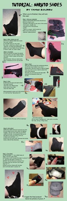 Cosplay Anime Costume Tutorial: Naruto Shoes by YaminiZouren-Photos on deviantART -