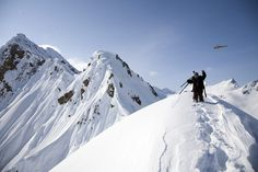 Exploring, filming, and sending it in Haines, Alaska. #Ski #Mountains #Heliskiing