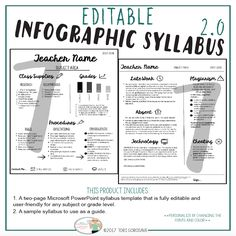 Syllabus Editable  Different Editable Syllabus Infographic