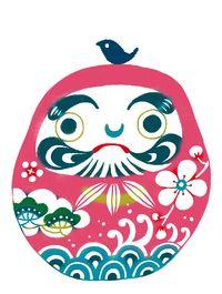 紅型絵柄3(干支など)|コジーサの画帖 Japanese Patterns, Japanese Design, Japanese Illustration, Illustration Art, Japanese Traditional Dolls, Museum Branding, Daruma Doll, Pinstripe Art, Stencil