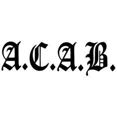 ACAB funy car sticker vinyl decal silver/black car auto stickers for car bumper window car decorations . Acab Tattoo, Football Tattoo, Totenkopf Tattoos, Car Stickers, New Outfits, Vinyl Decals, Tatoos, Graffiti, Cr7 Ronaldo