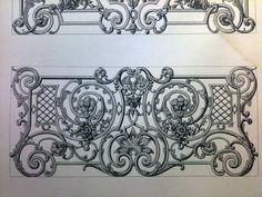 30 Wrought Iron Pencil Drawing Ideas - New Door Gate Design, Railing Design, Metal Drawing, Metal Art, Iron Stair Railing, Railings, Wall Decor Design, Iron Furniture, Iron Work
