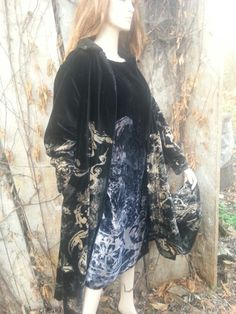 Discharged coat snd silk tunic by Beata Jarmolowska