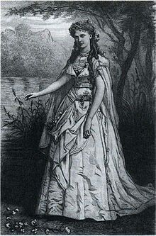 Christine Nilsson as Ophélie