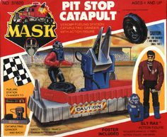 mask pit stop   Kenner MASK PIT STOP CATAPULT BOX FRONT