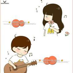 Cute Couple Art, Anime Love Couple, Couple Cartoon, Cute Girl Wallpaper, Couple Wallpaper, Anime Couples, Cute Couples, Instagram Cartoon, Cartoon Clip