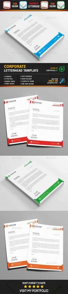 Corporate Letterhead V  Letterhead Stationery Printing And