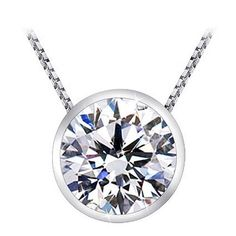 1 1/2 Carat Bezel Set Solitaire Diamo... $2,960.00 #bestseller  #SolitaireDiamondPendants