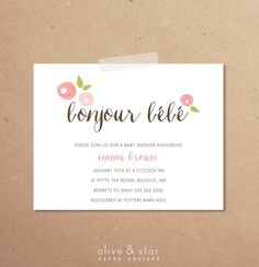 French country baby invitation designs baby shower invitations bonjour bebe baby shower invitation set filmwisefo