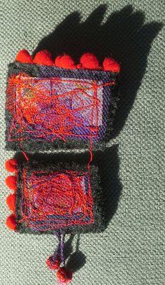 Broche-Composition textile originale par VeronikB sur Etsy