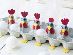Looking for employment for children in the protected area? 3 tutorials on creation of egg carton - Easter Crafts Kids Crafts, Egg Crafts, Easter Crafts, Diy And Crafts, Spring Crafts, Holiday Crafts, Chicken Crafts, Egg Carton Crafts, Easter Art