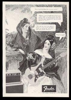 1962 Fender Jazzmaster Guitar Photo and Showman Amp Photo Vintage Print Ad | eBay