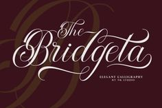 The Bridgeta is an elegant and flowing handwritten font. Use it for any design projects that require a charming appearance!... Handwritten Fonts, Calligraphy Fonts, Lettering, Great Fonts, Cool Fonts, Open Fonts, Wedding Script, Commercial Use Fonts, Typeface Font