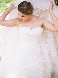 Wedding dress via Pronovias - Cross creek ranch wedding at Dover, Florida by Shipra Panosian