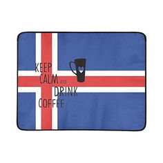 9aae09cd6f7 Amazon.com   Artsadd Custom Beach Mats iceland Flag Artsadd Custom Outdoor  Beach Hiking Grass Travelling Camping Mat 78 X 60   Sports   Outdoors