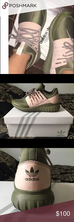 Adidas Tubular Radial Never worn, havent even had for 6 months. Custom made, but were too big for me. Great condition! Adidas Shoes Sneakers