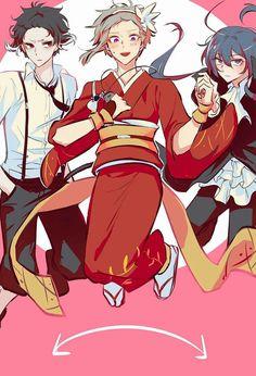 It suits very well, Atsushi~! Stray Dogs Anime, Bongou Stray Dogs, Cute Couple Comics, Natsume Yuujinchou, Anime Crossover, Anime Comics, Dog Art, Cute Drawings, Anime Characters