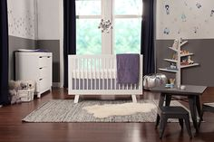 The modern Hudson Convertible Crib from Babyletto is sleek and sophisticated. With 4 adjustable mattress heights, it converts into a toddler bed and daybed. Slatted sides and a solid pine wood construction help keep baby safe during sleepy time. Tree Bookcase, Bookcase White, Nursery Furniture Sets, Baby Furniture, Spruce Tree, Crib Sets, Convertible Crib, Crib Mattress, Nursery Design