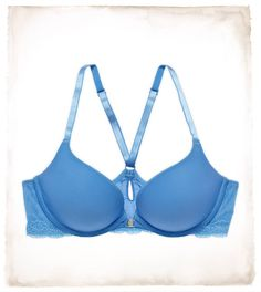 Aerie Brooke Racerback Push-up Bra    Racerback, front closure, push-up, amazing colors, comes in my very weird size, AND with feminine lace detailing?! Yes, please!