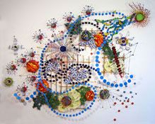 Nathalie Miebach blending art and science; awesome exhibit and creative work! http://nathaliemiebach.com/gulf.html