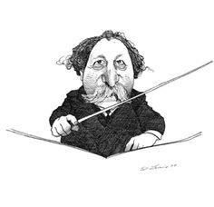 Caricature by David Levine (New York Review of Books) of Matt's great-grandad.