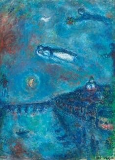 Marc Chagall - Le souvenir bleu, 1982.