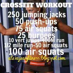Fitness Health: No Equipment CrossFit Workout