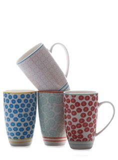 Maxwell Williams Set Of Four Patchework Mugs - home sale  - Home & Lighting