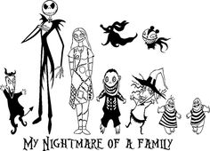 nightmare before christmas jack create your own family car window decal