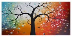 Abstract Life Tree oil painting modern art decor with frame ready to hang http://www.amazon.com/Sweety-Decor-Floral-Painting-Stretched/dp/B013FZELQA/ref=sr_1_1?s=home-garden&ie=UTF8&qid=1440144299&sr=1-1&keywords=B013FZELQA