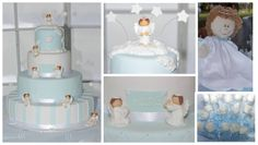 Baptism / christening Cake and Angel