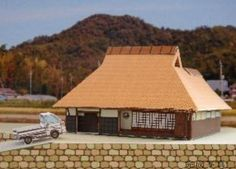 Japanese Farm House for Diorama Free Building Paper Model Download