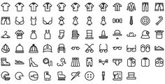 Native line icons pack - Round Icons Premium All Icon, Icon Set, Icon Tattoo, Icon Pack, Line Icon, Icon Design, Nativity, Clothing, Instagram