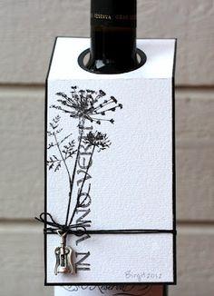 Wine tag with a corkscrew charm.
