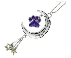 """I Love You To the Moon and Back """" Purple Paw Rearview Mirror Car Charm #CarCharm"""
