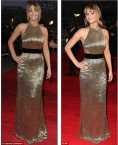 Jennifer Lawrence in a custom Ralph Lauren Collection gown at the London premiere of The Hunger Games